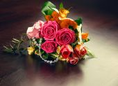 Delicate bouquet of flowers — Stock Photo
