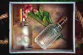 Box with perfume, women's joy — Stock Photo