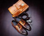 Men's accessories — Stock Photo