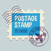 Postmark sjabloon — Stockvector