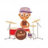 Hip hop drummer — Stock Vector