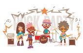 Rock band show — Stockvektor