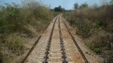 Railway in Thailand — Stock Video