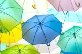A lot of Colorful umbrellas — Stok fotoğraf