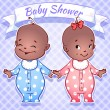 Baby Shower - boy and girl — Stock Vector #53749127