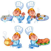 Cheerful redhead cook — Stock Vector