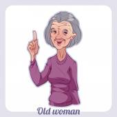 Old women on a white background — Wektor stockowy