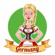 Girl in a German national costume — Stock Vector #57076935