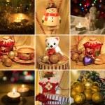Collage on the theme of Christmas: Christmas toys, Christmas tr — Stock Photo #57934551