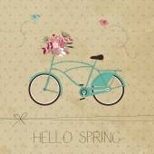 Spring greeting card — Stock Vector