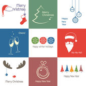 Christmas icons — Wektor stockowy