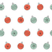 Vánoční koule bezešvé pozadí — Stock vektor