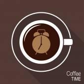 Tempo di caffè — Vettoriale Stock