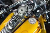Harley Davidson motorcycle dashboard and speedometer detail. — Stock Photo