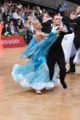 Ballroom dance couple — Stockfoto
