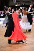 Ballroom dance couple — Stock Photo