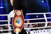 WBO Inter-Continental cruiserweight champion belt — Stock Photo