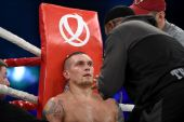 Oleksandr Usyk, WBO Inter-Continental cruiserweight champion — Stock Photo