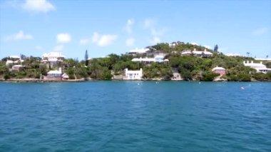 Tropical Island in Bermuda — Stock Video