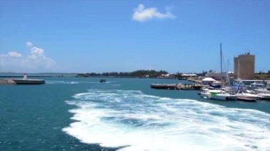 Wharf on the island of Bermuda. — ストックビデオ