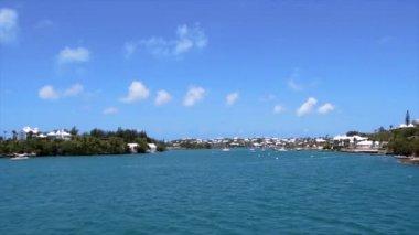 Ilha tropical nas Bermudas — Vídeo stock
