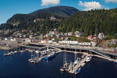 Small alaskan port city — Stock Photo