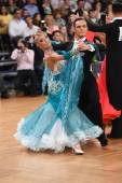 Taneční pár, tančí na soutěži — Stock fotografie