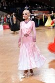 Female ballroom dancer during the competition — Stock Photo