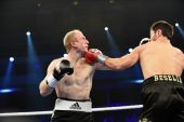 Ranking boxing fight in Palace of sport — Foto de Stock