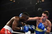World series of boxing: Ukraine Otamans vs British Lionhe — Stock Photo
