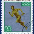 Olympic games Stamp with Race — Stock Photo #63985213