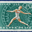 Olympic Games  stamp with  athlete — Stock Photo #63992775