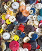 Backroud of colorful Sewing buttons — Stock Photo