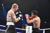 Ranking boxing fight in Palace of sport — Stockfoto