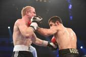Ranking boxing fight in Palace of sport — Stock Photo