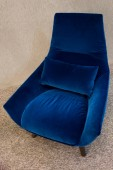 Modern blue armchair — Stock Photo