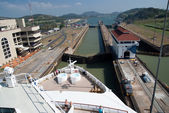 Atlantic entrance of the Panama Canal — Stockfoto
