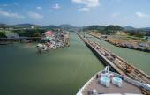Atlantic entrance of the Panama Canal — Foto Stock