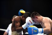 Der World Series of Boxing: Ukraine Otamans gegen Kuba Domadores — Stockfoto