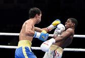 World series of boxing: Ukraine Otamans vs Cuba Domadores — Stock Photo