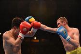 World series of boxing: Ukraine Otamans vs China Dragons — Stock Photo