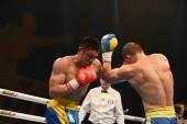 World series of boxing: Ukraine Otamans vs China Dragons — Stock Photo