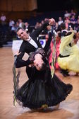 Ballroom dance couple, dancing at the competition — Foto de Stock