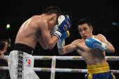 World series of boxing: Ukraine Otamans vs Russian Boxing Team — Stock Photo