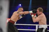 Boxing fight for WBO Inter-Continental cruiserweight title — Zdjęcie stockowe