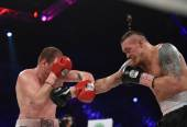 Boxing fight for WBO Inter-Continental cruiserweight title — Stock Photo