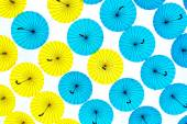 Bright colorful umbrellas background — Стоковое фото