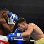 World series of boxing: Ukraine Otamans vs British Lionhearts — Stock Photo #76294531