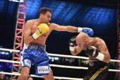 Ranking boxing fight in the Arena Lviv Stadium — Stock Photo