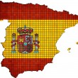 Spain map grunge mosaic — Vector de stock  #51801845